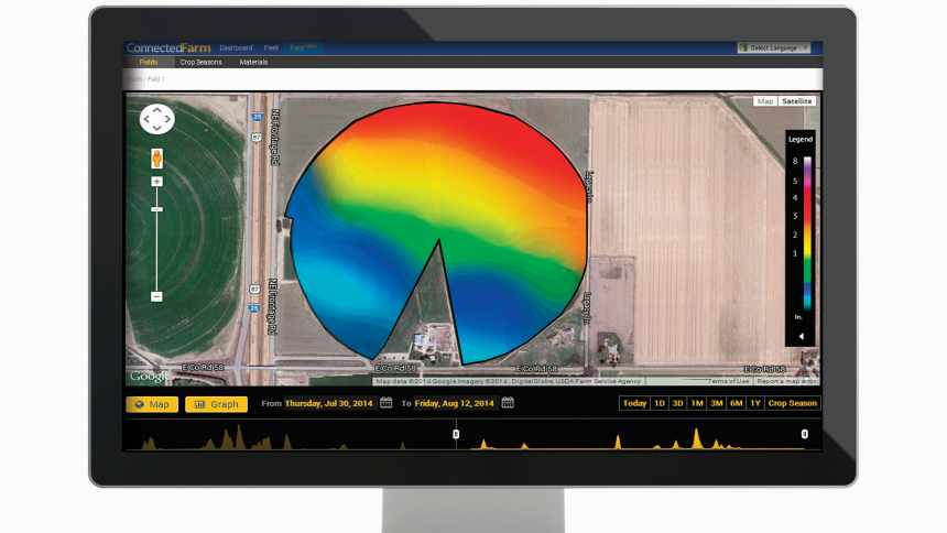 Trimble's new RainWave Contour Map