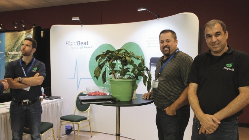 Phytech intro'd its PlantBeat technology at InfoAg 2014.