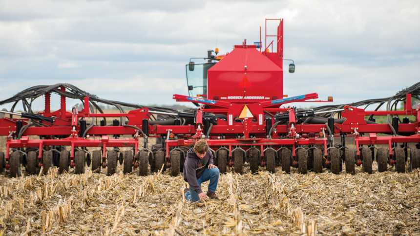 South Dakota Wheat Growers has been using its Horsch Anderson Air Seeder to do variable rate application for seed and fertilizer.