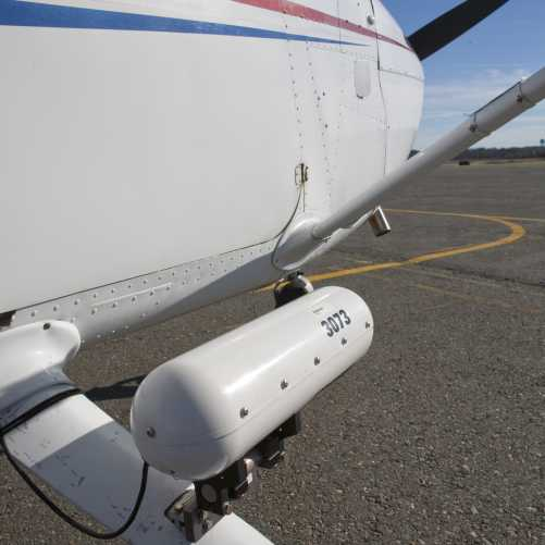 Geovantage plane with sensor