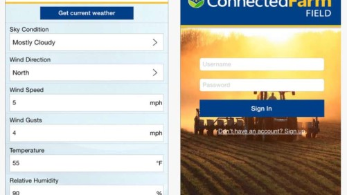 Trimble Connected Farm Field app