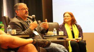 Illinois grower Steve Pitstick and moderator Lisa Prassack of Prassack Advisors.