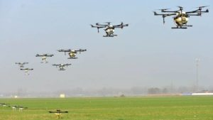 Chinese Farmers Using Drones to Spray Pesticides