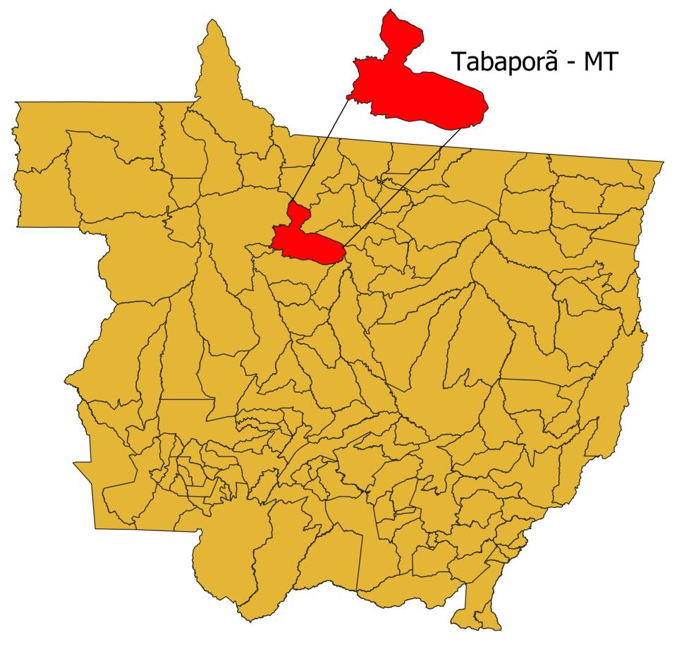 Municipality of Tabaporã in the state of Mato Grosso